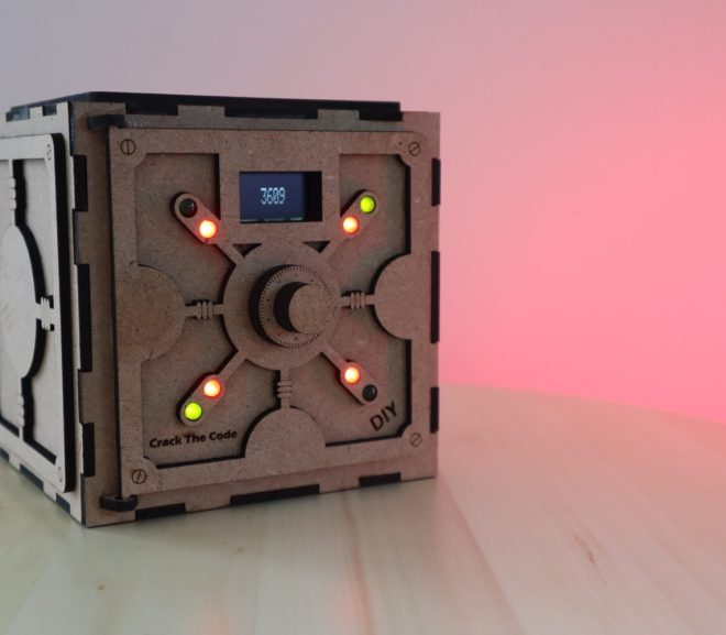 Crack The Code Game, Built Into A DIY Safe Puzzle Box