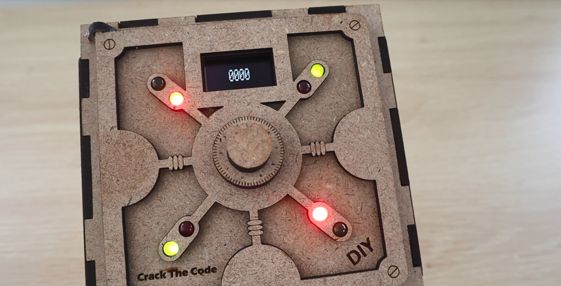 The LEDs Light Up To Show Correct Digits And Positions