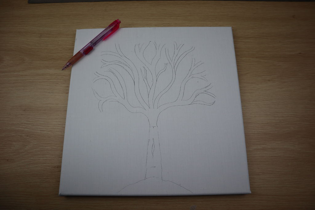Sketch The Rough Trunk And Bracnhes 2