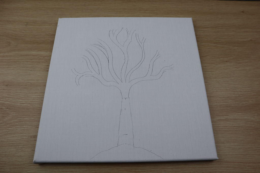 Sketch The Rough Trunk And Branches