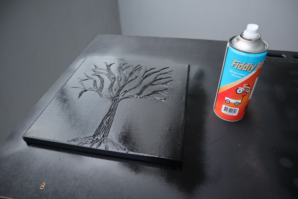 Spray Painting The Tree