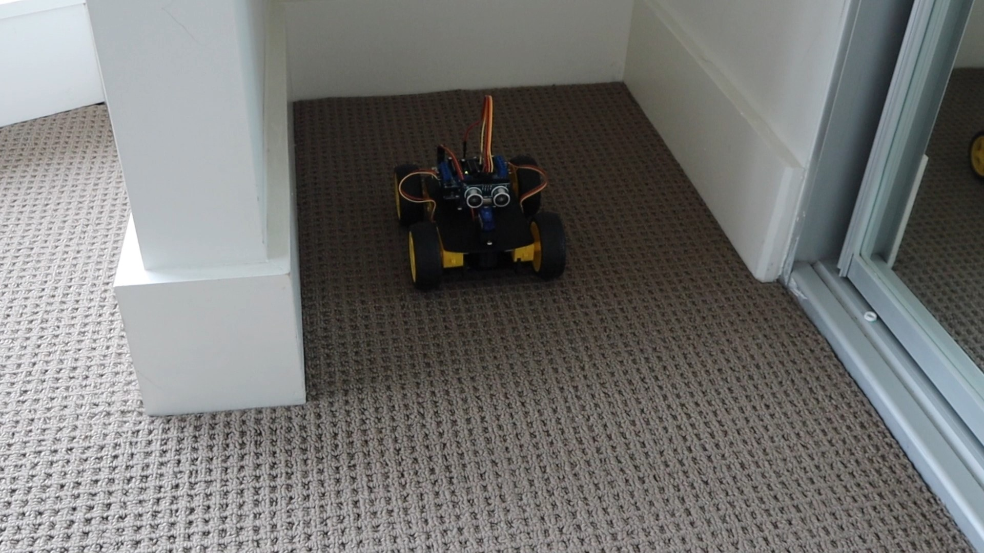 Obstacle Avoiding Robot Car Will Turn Around In Tight Spaces