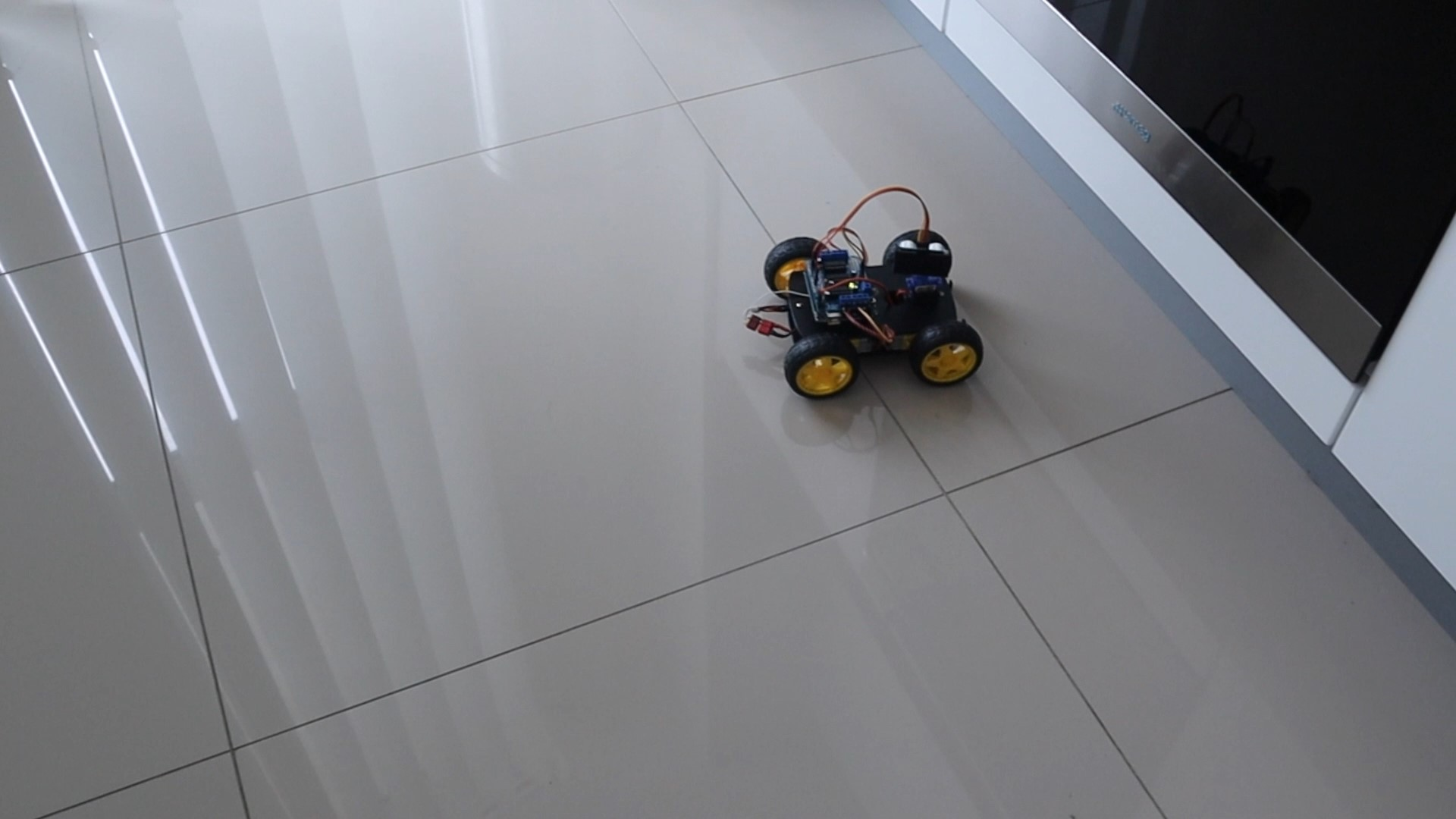 Obstacle Avoiding Robot Running On Tiles