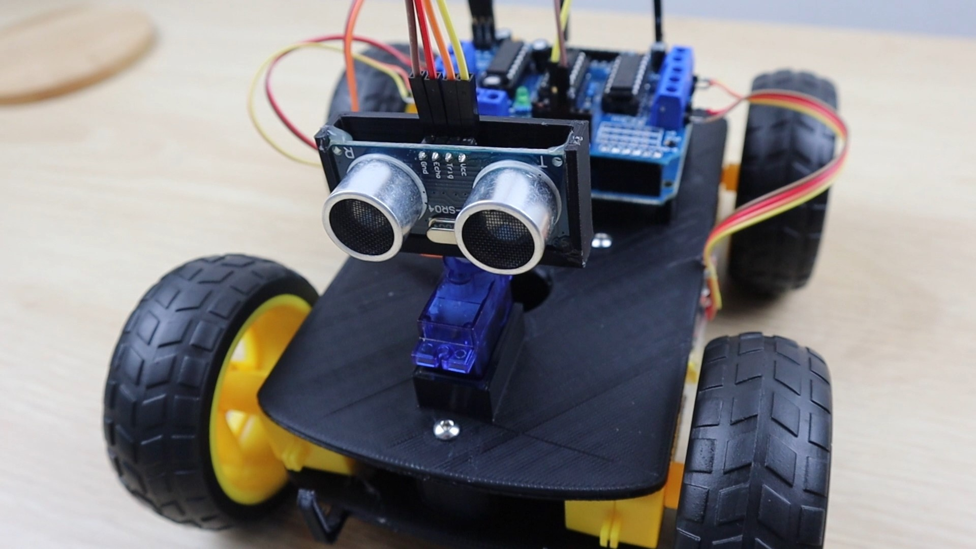 Obstacle Avoiding Robot Car Top