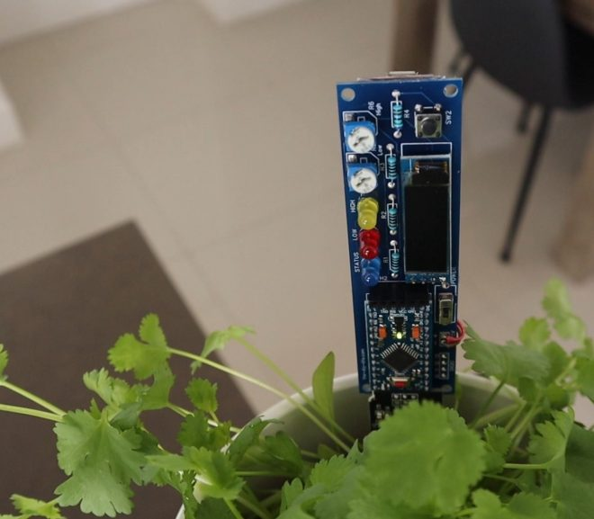 Arduino Based Soil Moisture Monitor In Pot