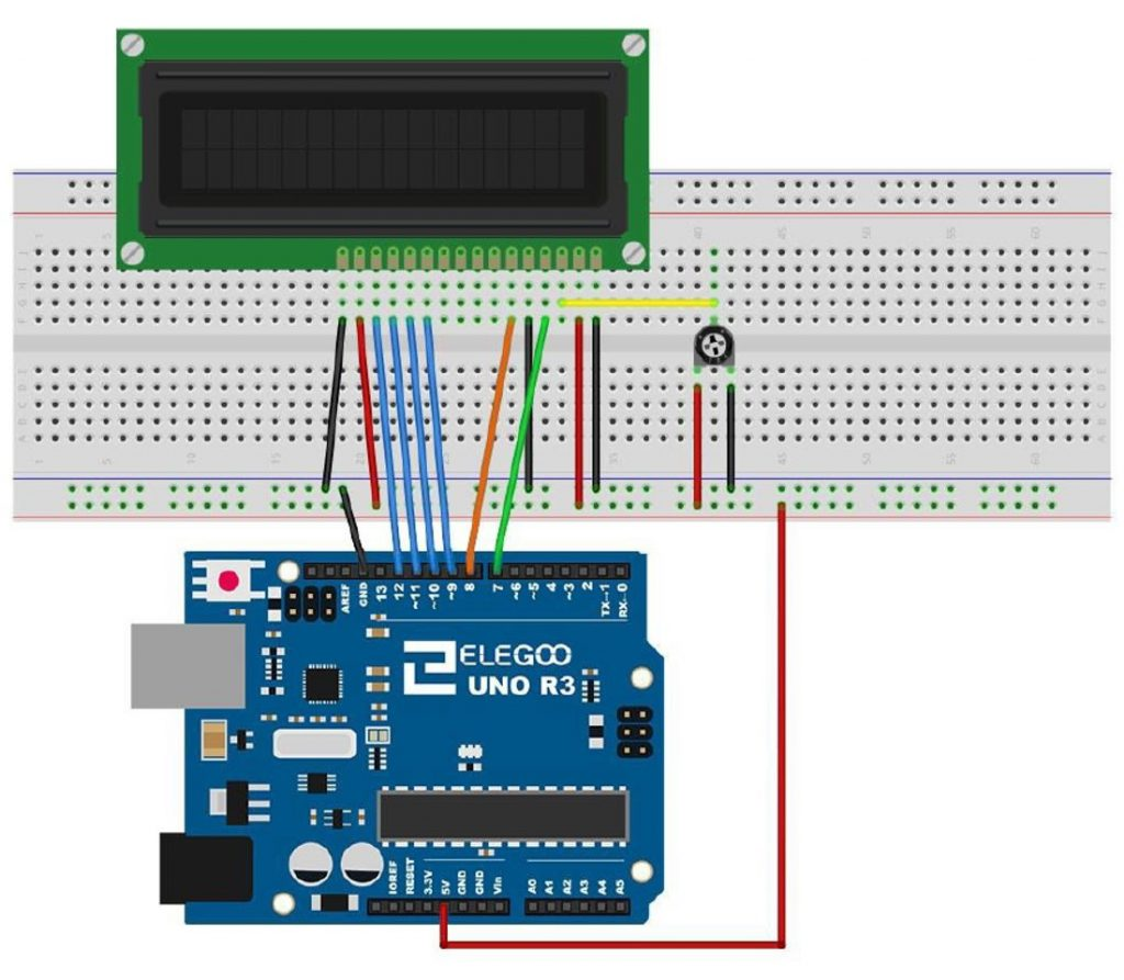 LCD Connection To Arduino