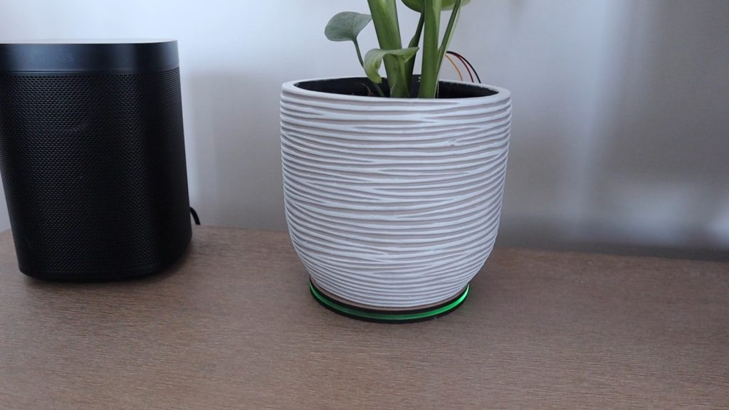 Plant Monitor On A Shelf