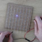 Testing The LEDs Once Assembled Into Grid