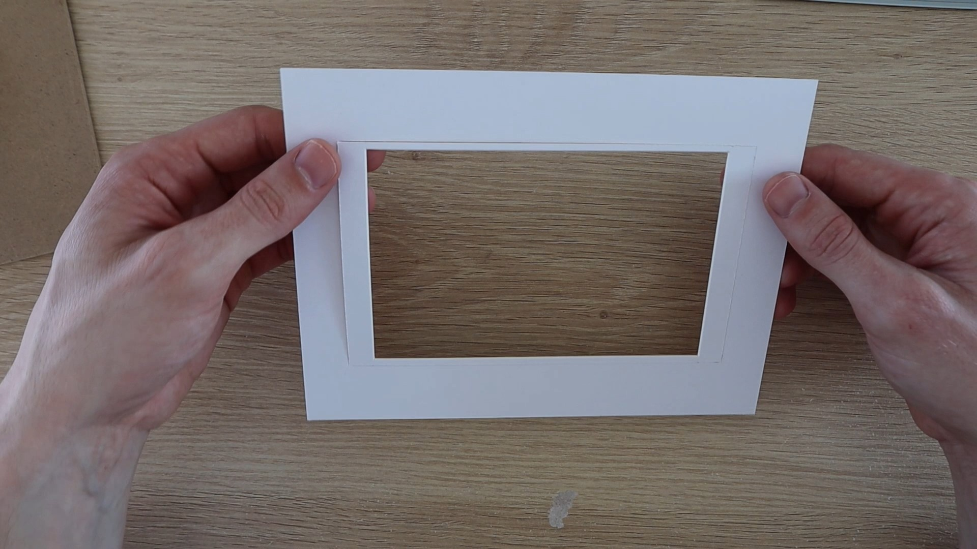 Cut The Frame Insert Larger To Fit The New Display