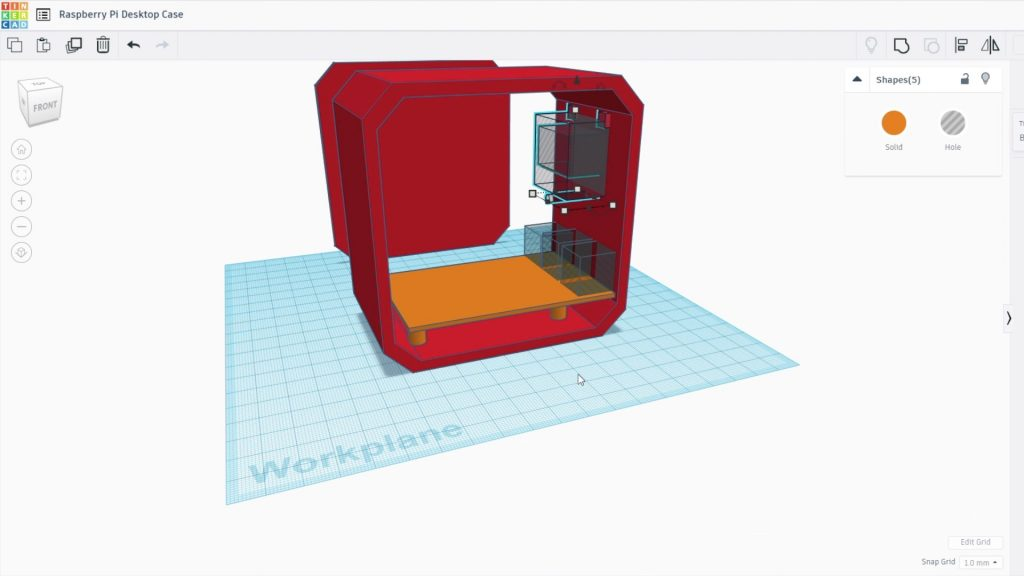 Designing The Case In Tinkercad