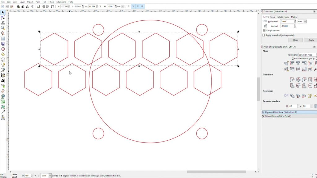Making The Hexagon Pattern For The Exhaust Air
