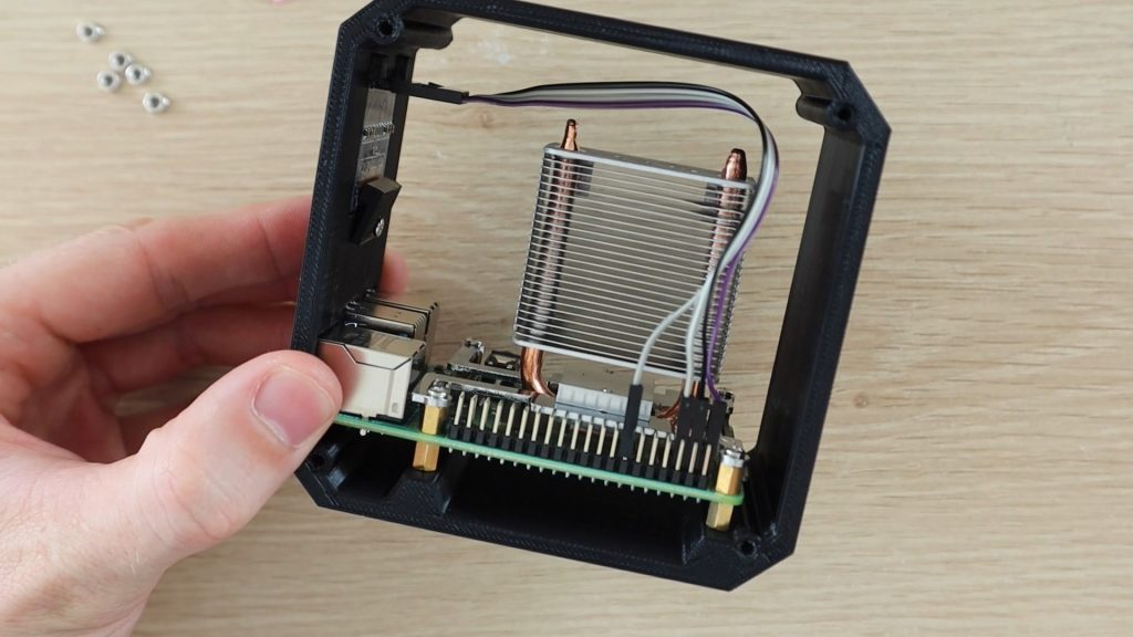 Plug In The Ribbon Cable Connector