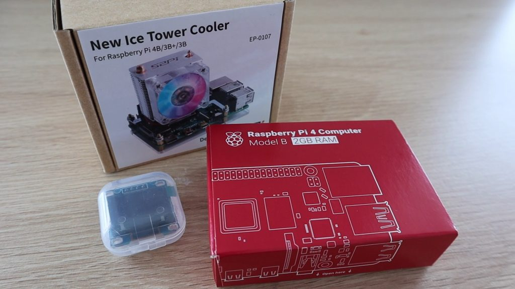 Raspberry Pi 4 Desktop Case Oled Display Ice Tower