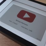 Youtube Subscriber Counter E-Ink Display