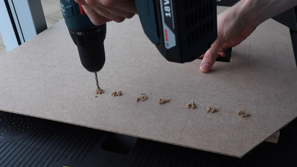 Drilled Holes For Mounting Components