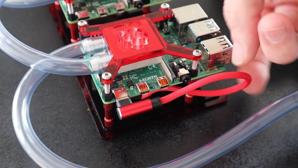 Feed Cables Through To Back Of Pi