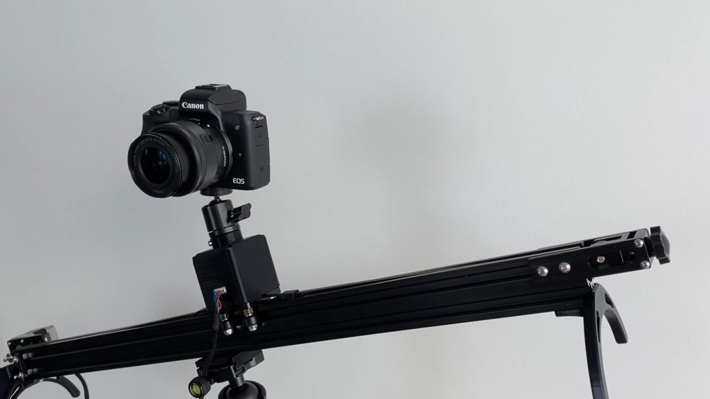 Camera Slider Mounted Onto Tripod To Work In Any Orientation