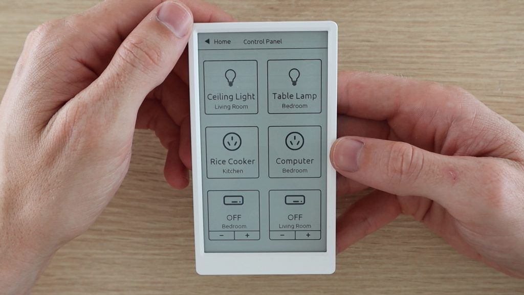 M5 Paper Home Automation Control Panel