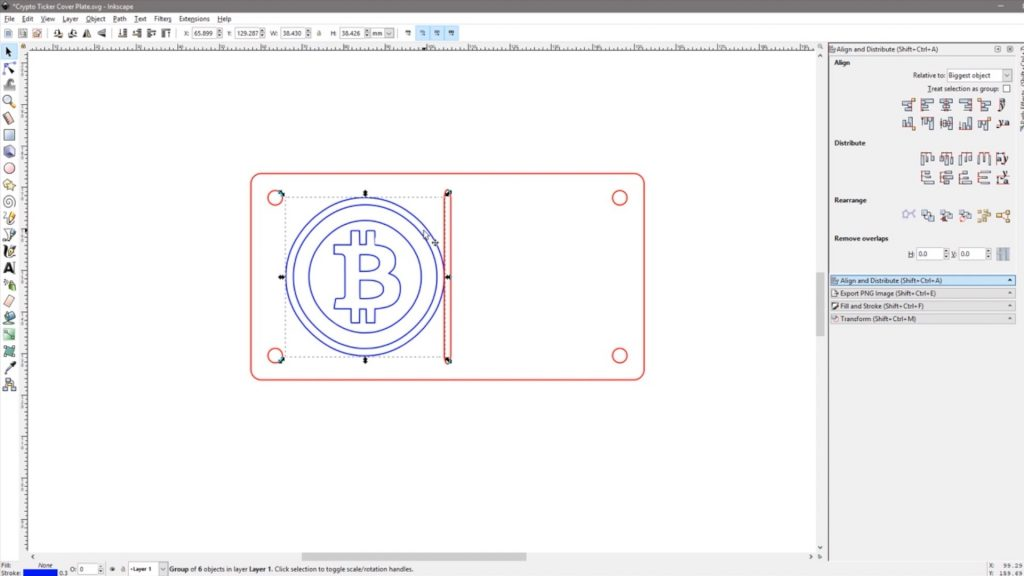 Designing The Bitcoin Cover Plate