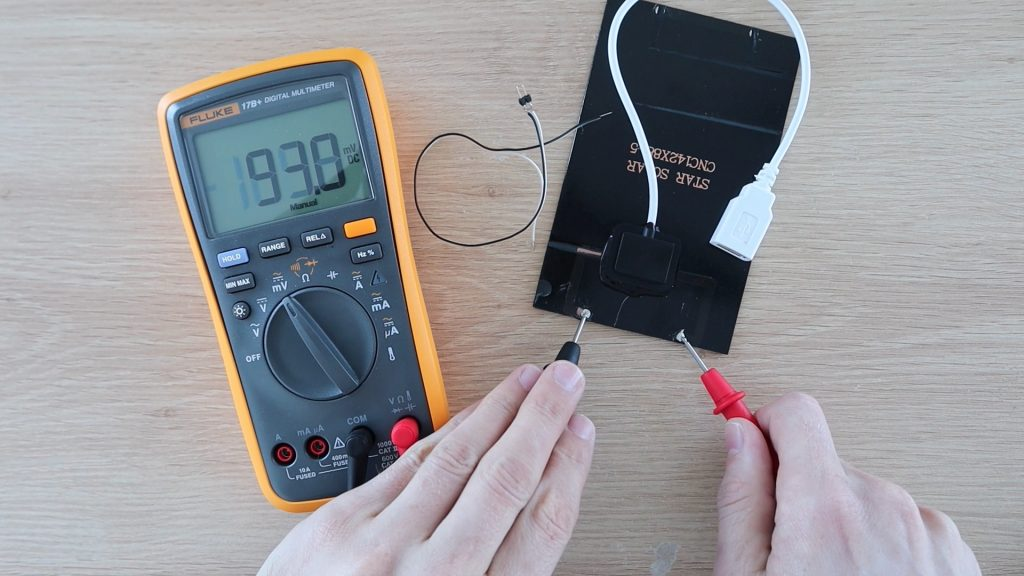Testing Solar Panel With Multimeter