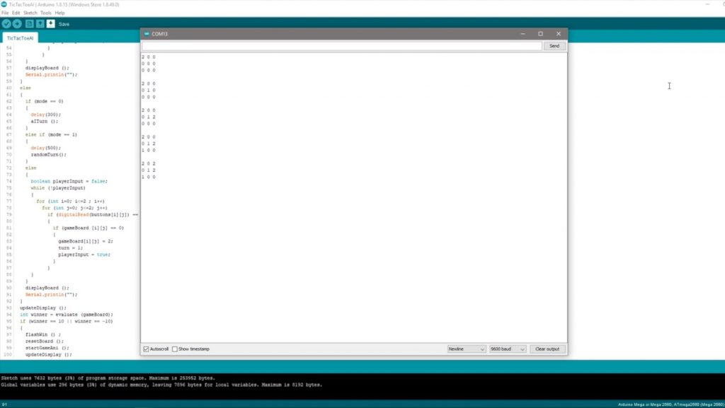 Manual Game Mode Working In Arduino IDE