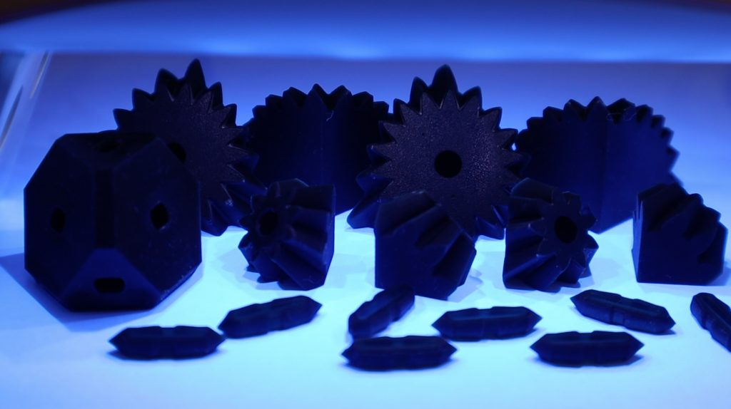 Gear Cube Components UV Curing