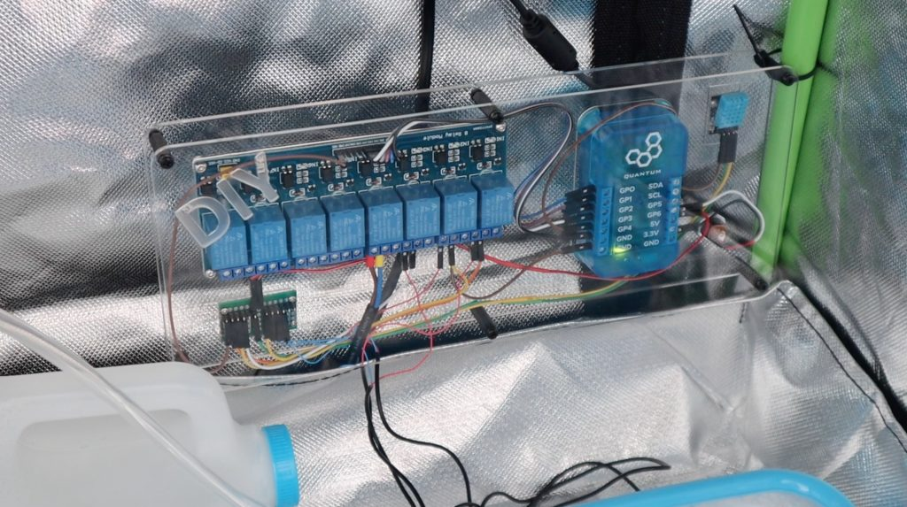 Control System Mounted Into Grow Tent