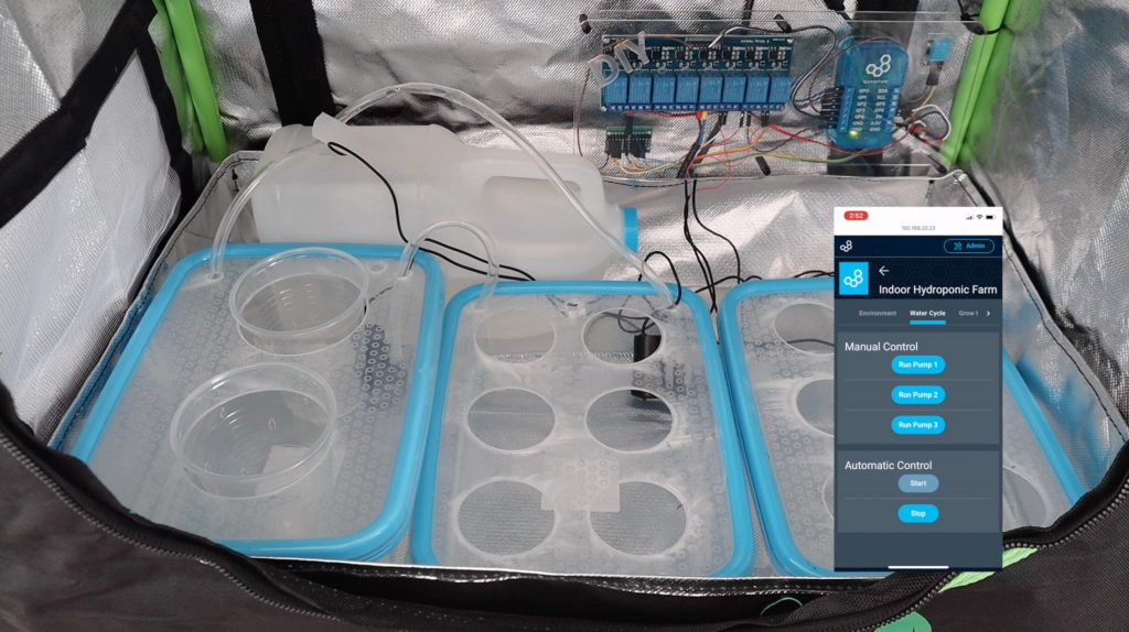 Testing Pumps In Grow Tent